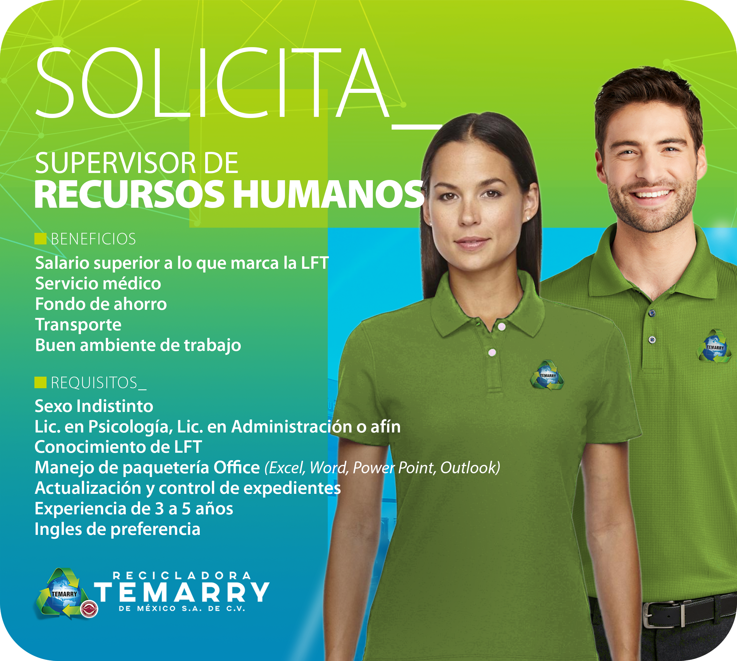 Supervisor de Recursos Humanos
